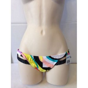 NWT Roxy Hipster Side Bikini Bottom FLOWER #125